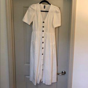 Zara Button Down Linen Dress